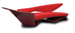 Project-in-Red-Sofa, Entwurf Zaha Hadid