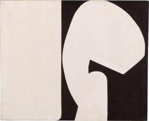 """Trudi Gill, """"Frau und Mann"""", Acrylfarbe auf Leinwand, 72 x 86 cm, Teil einer Serie von 1971"""