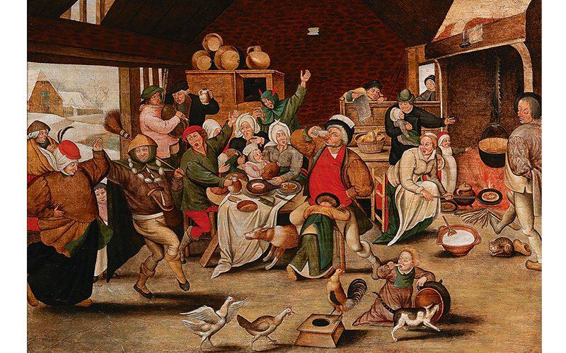 Pieter Brueghel Der Bohnenkönig / The King Drinks