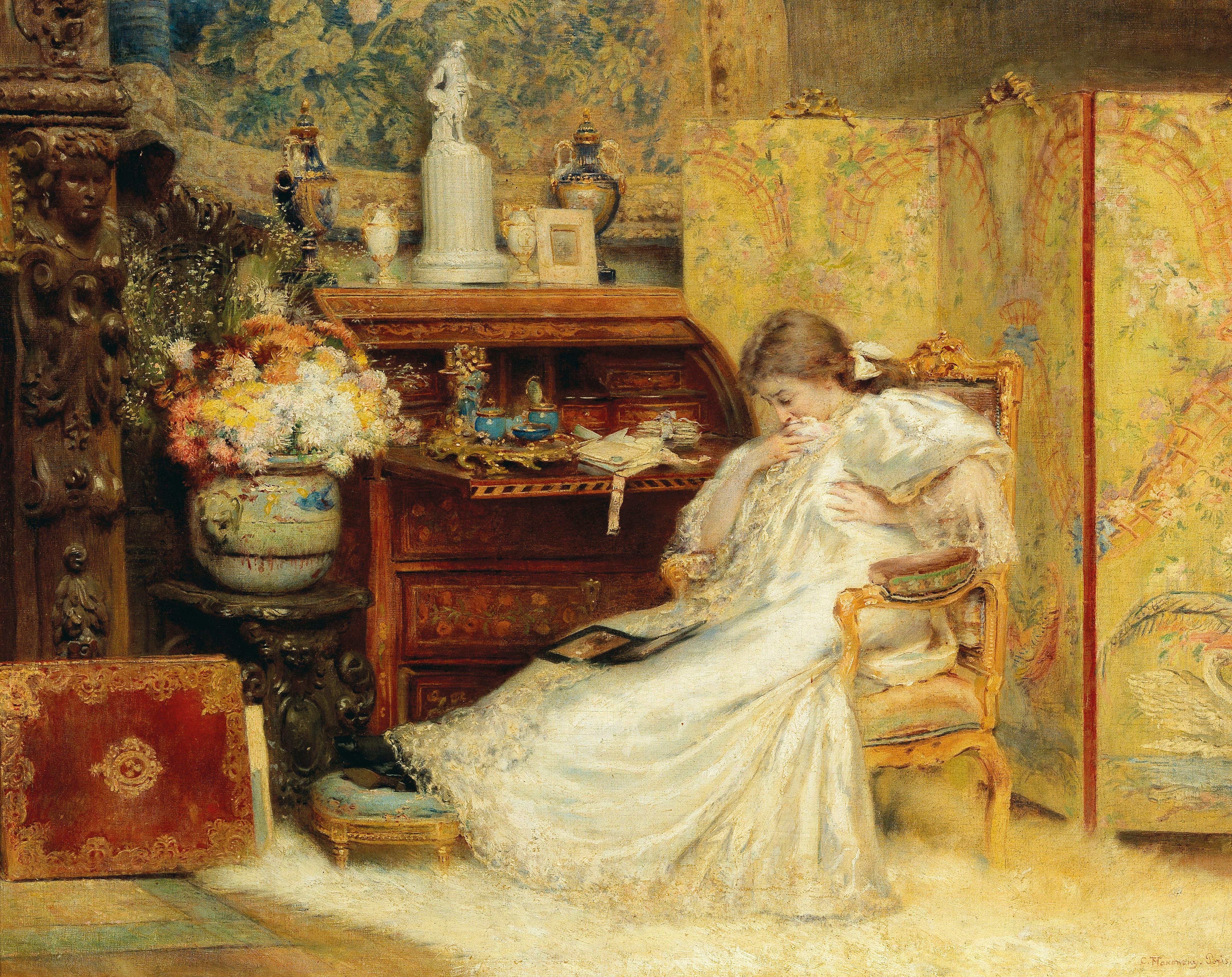 Konstantin Yegorovich Makovsky (1839–1915) Gentle creature oil on canvas, 71 x 90 cm estimate € 70,000 – 90,000