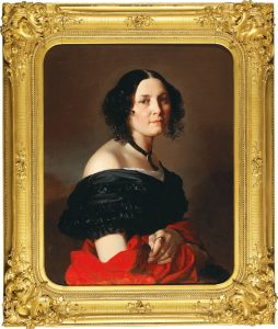 Ernst Christian Moser, Portrait of Elena Ireneevna Khreptovitch (1814–1900), 1855, oil on canvas, 75 x 61 cm, estimate € 8,000 – 12,000