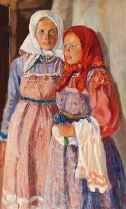 Nikolai Borisowitsch Terpiskhorow, Zwei Bauernmädchen, Schätzwert € 10.000 – 15.000