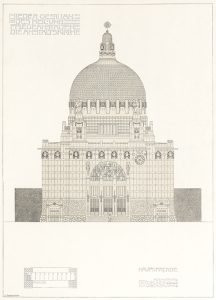 A draft of Otto Wagner's St. Leopold's Church