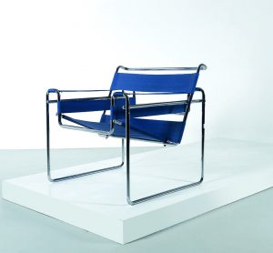 Sessel Thonet blau Metall