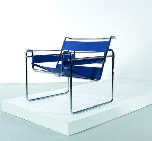 Sessel Thonet blau Metall