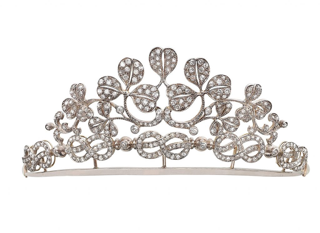 tirara diadem diamonds floral