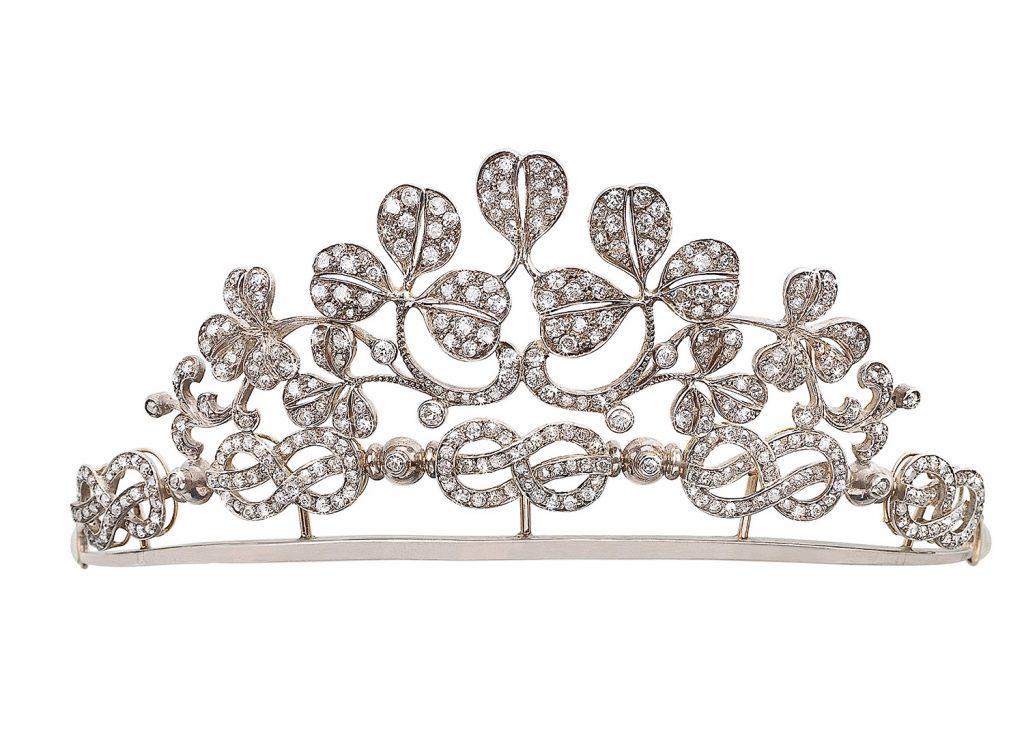 Diamant Diadem Brillanten Tiara Blüten Blätter