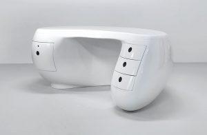 Bumerang Schreibtisch weiß