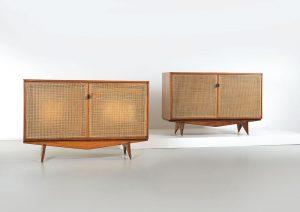 Sideboard zwei Holz 50er Jahre