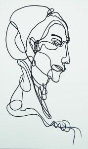 Porträt Gesicht eine Line Martin Tardy