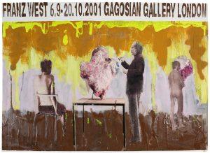 Franz West, Plakatentwurf (Gagosian Gallery, New York), 2001