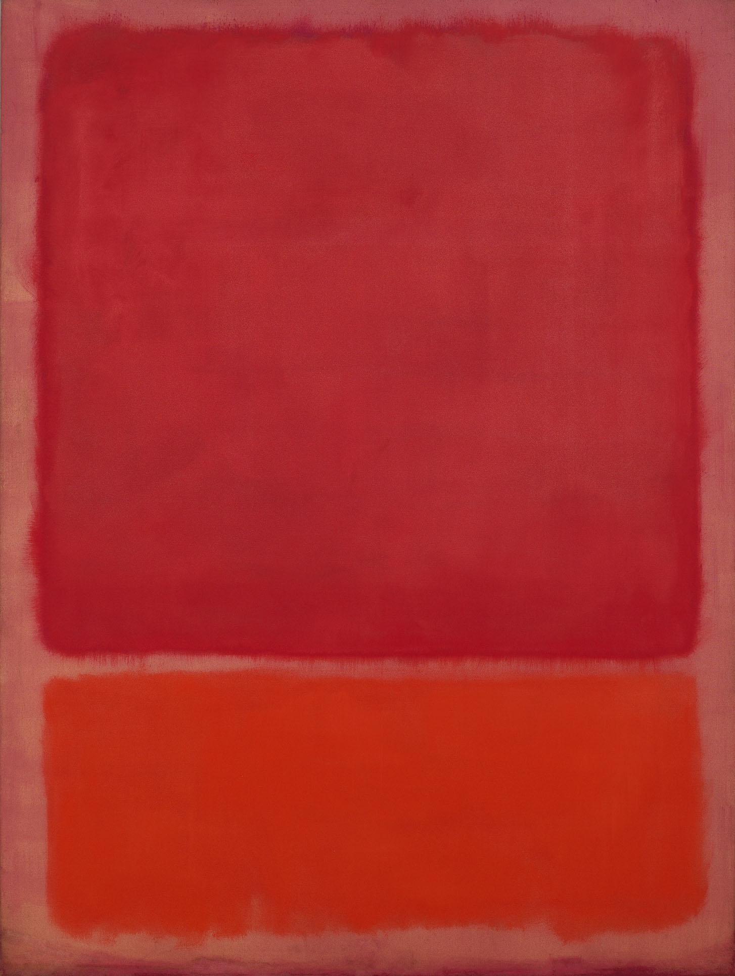 Mark Rothko (1903–1970) Untitled (Red, Orange), 1968, Öl auf Leinwand, 233 x 176 cm © 1998 Kate Rothko Prizel & Christopher Rothko/Bildrecht, Wien, 2019 © Foto: Robert Bayer/Fondation Beyeler, Riehen/Basel, Sammlung Beyeler