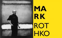 """Mark Rothko vor dem Werk """"No. 7"""", 1960 Regina Bogat zugeschriebenes Foto © 2005 Kate Rothko Prizel & Christopher Rothko, Bildrecht, Wien, 2019"""
