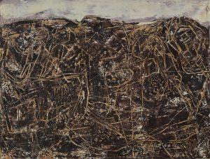 Jean Dubuffet Bon Espoir (Paysage avec personnages) 1955