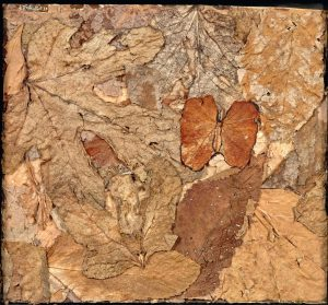 Jean Dubuffet, Buisson au papillon (Assemblage), 1959
