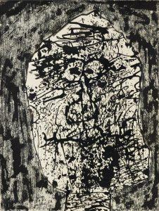 Jean Dubuffet, Tête, 1960