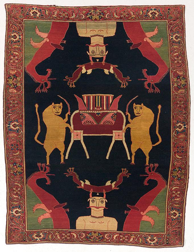 Malayer, Iran, c. 194 x 145 cm, Starting bid: EUR 12,000