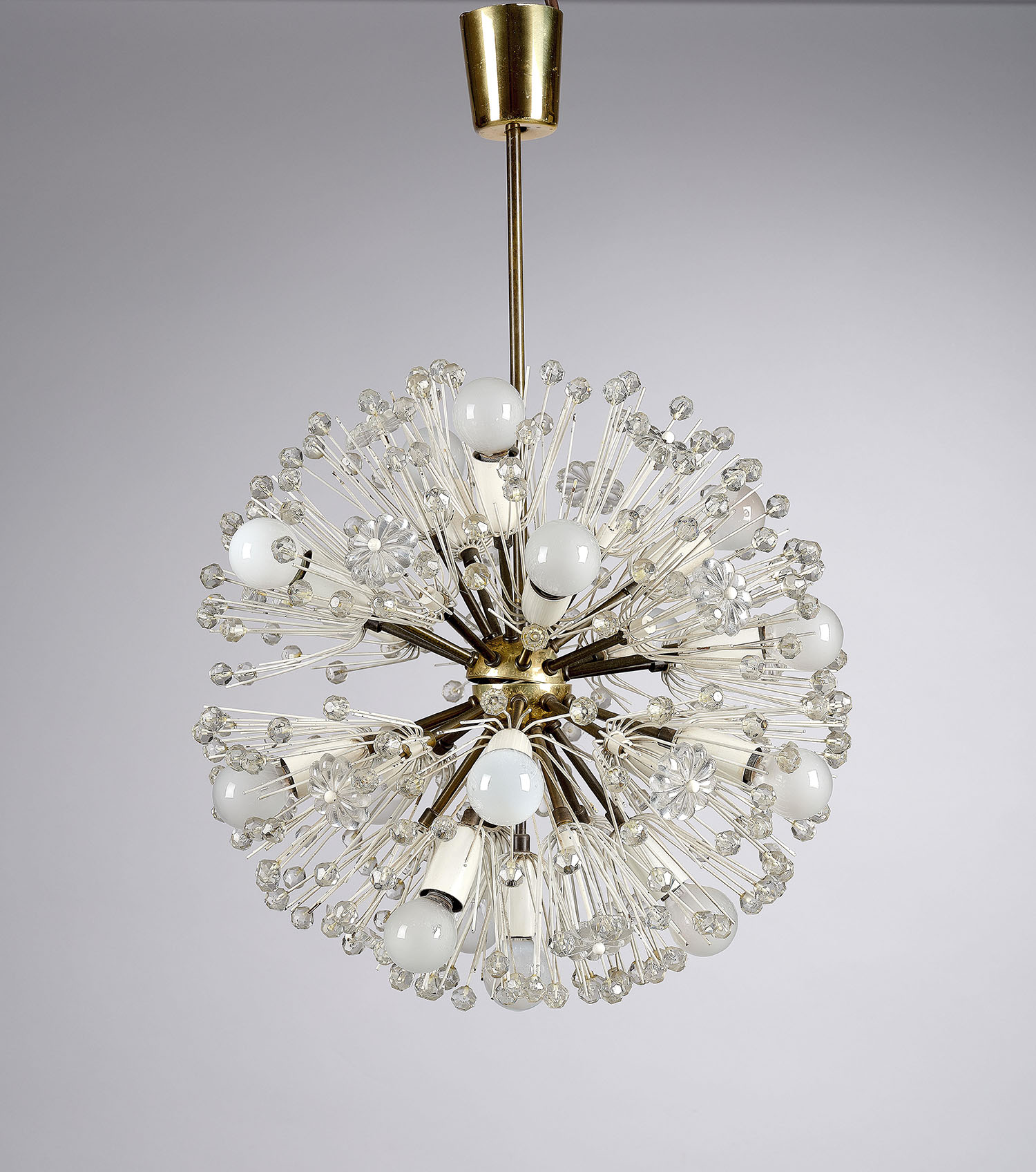 Emil Stejnar, chandelier, design: Vienna, c. 1955, manufactured by A. Rupert Nikoll, starting bid €700