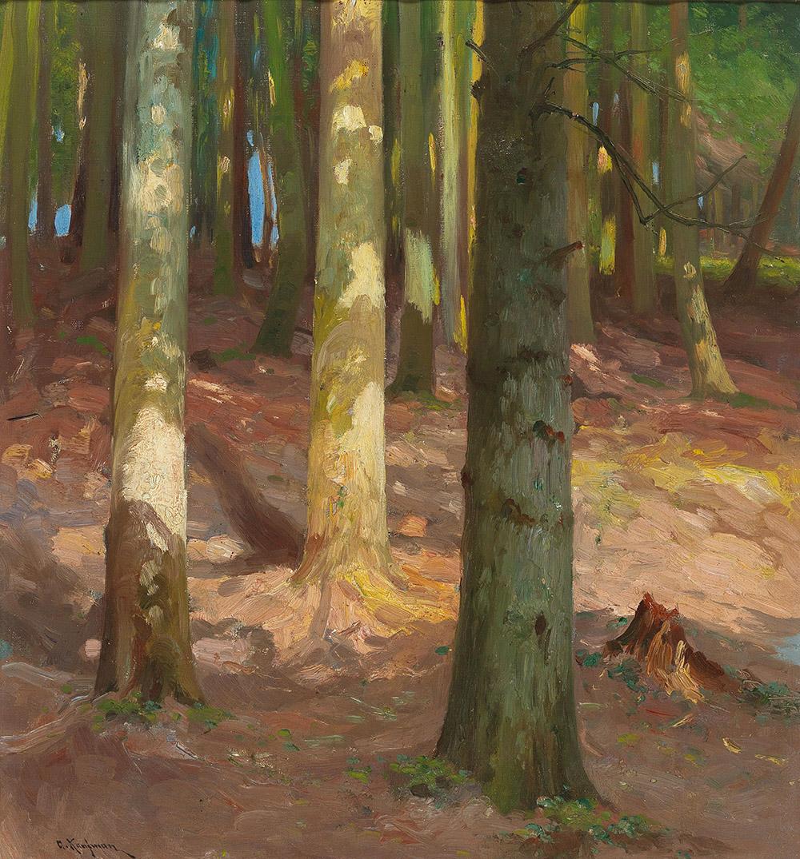 Adolf Kaufmann (1848-1916) Wald, Öl auf Leinwand, 55 x 51 cm, Startpreis € 1.200
