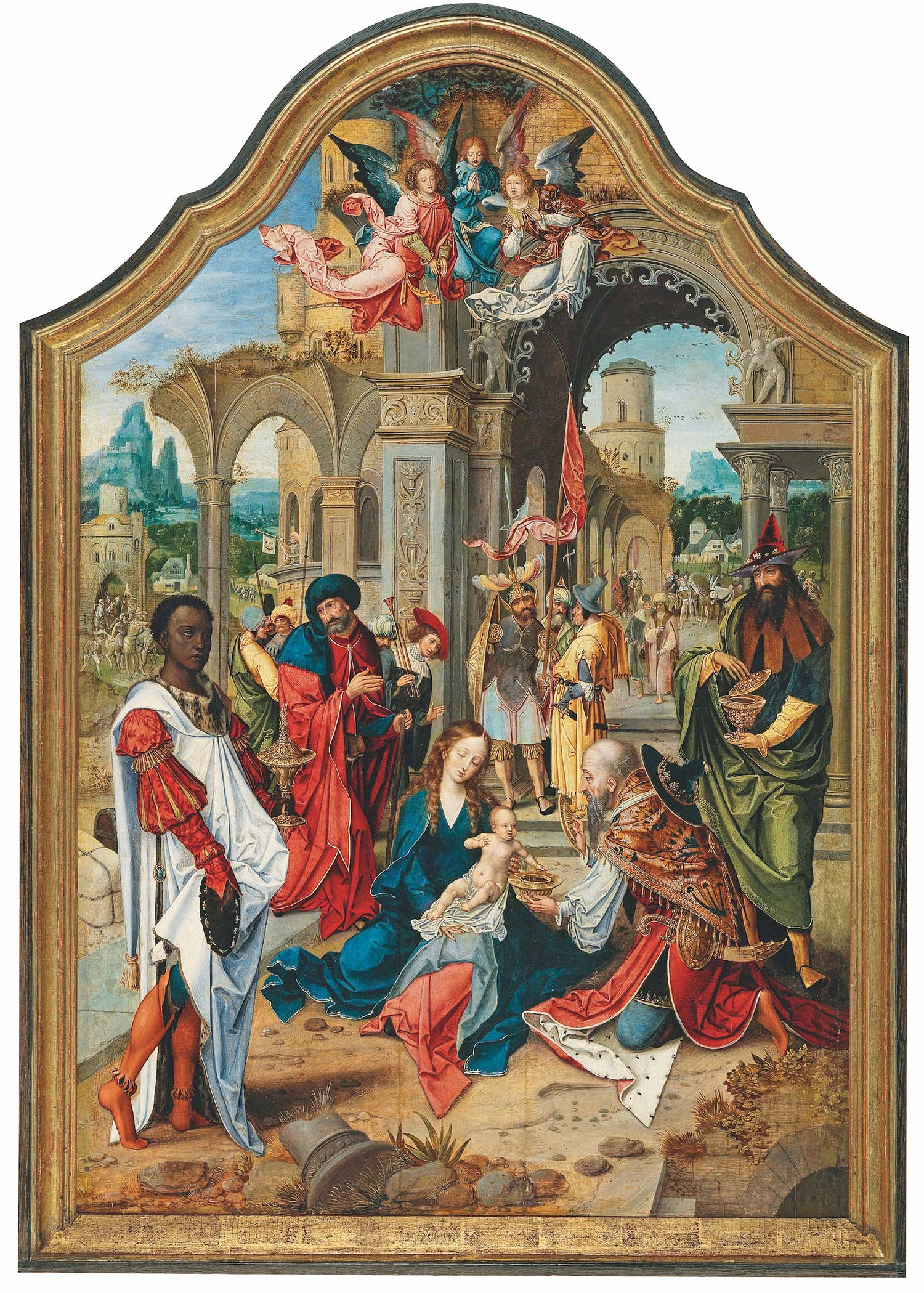 Pieter Coecke van Aelst (1502–1550), Anbetung der Könige, Öl auf Holz, 112 x 75 cm, €400.000 – 600.000