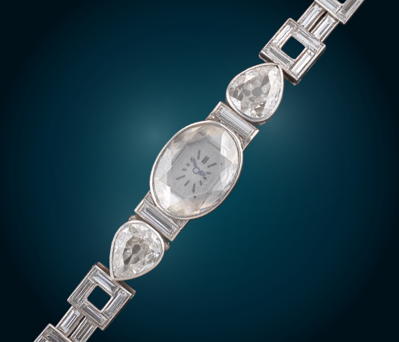 A diamond watch by Cartier, total weight c. 11 ct, €20,000 - 40,000