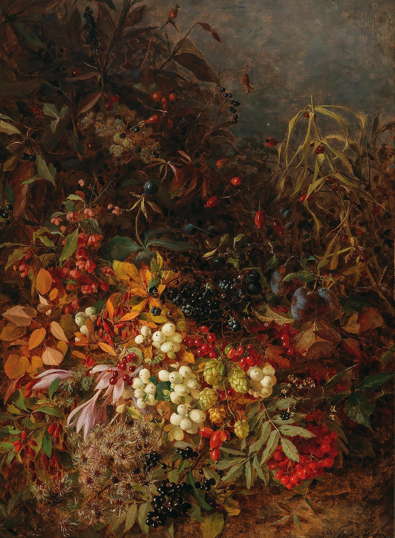 """October"", titled and inscribed on an old label on the reverse, signed O. Wisinger-Florian, oil on panel, 65 x 49 cm, Estimate €60,000 - 80,000"