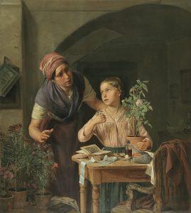 Rosalia Amon, Die welke Rosenknospe, 1847 Öl auf Holz, 54 x 44,5 cm, € 36.000 – 45.000