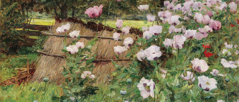 "Olga Wisinger-Florian (1844–1926), ""Im Bauerngarten"", Öl auf Karton, 77,5 x 94 cm, € 250.000 – 350.000"