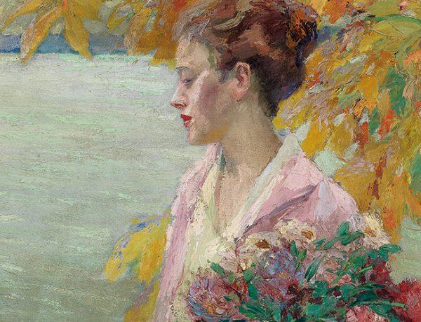 Edward Cucuel (1875–1951), Herbstspaziergang (Autumn walk), around 1930, oil on canvas, 69.5 x 50 cm, estimate €40,000 – 60,000