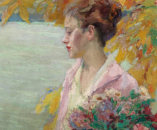 Edward Cucuel (1875–1951), Herbstspaziergang (Autumn walk), around 1930, oil on canvas, 69.5 x 50 cm, estimate €40,000 – 60,000