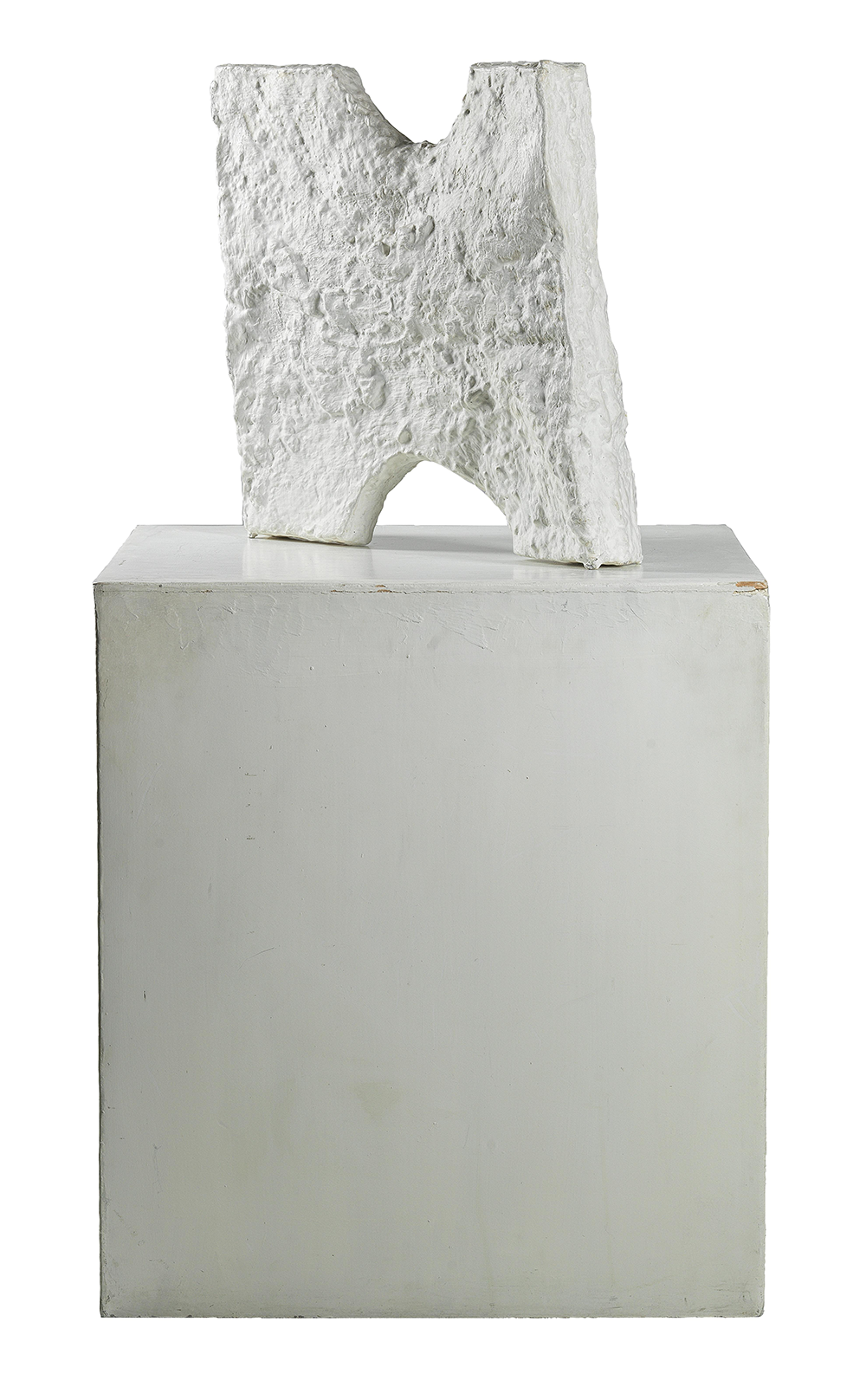 Franz West (1947-2012), BI 4 (Paßstück), 1990, titled with stencil (?) BI 4 (Biennale Paßstück 4 of 11 exhibited), painted aluminium cast, 49 x 50 x 10 cm, base 69 x 60 x 63 cm, estimate €70,000 – 100,000