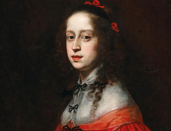 Justus Sustermans (Antwerpen 1597–1681 Florenz), Bildnis der römisch-deutschen Kaiserin Maria Leopoldine von Habsburg-Tirol (1632–1649), Öl auf Leinwand, 72 x 58 cm, Schätzwert € 60.000 – 80.000