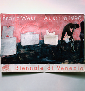 Franz West, Poster Design (Biennale di Venezia), gouache and collage on cardboard, 70 x 100 cm © Collection Giuliana and Tommaso Setari, Paris © Archiv Franz West © Estate Franz West Courtesy Franz West Privatstiftung