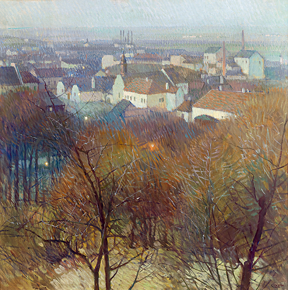 Carl Moll, View of Nußdorf and Heiligenstadt at Dawn, c. 1905, price realized € 278,600