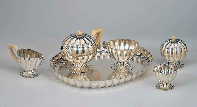 Josef Hoffmann, a large six-piece tea service, Wiener Werkstätte, 1919 estimate €25,000 – 40,000