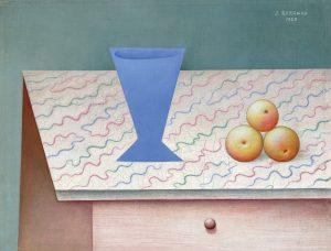 Jan Zrzavý, Stillleben mit drei Äpfeln, 1928 Öl auf Leinwand, 35 x 46,5 cm, Schätzwert € 150.000 – 200.000