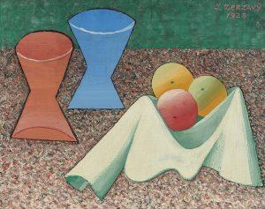 Jan Zrzavý, Stillleben mit zwei Vasen, 1928 Öl auf Leinwand, 27 x 35 cm, Schätzwert € 130.000 – 180.000