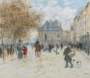 Jean François Raffaelli (1850–1924), Am Quai Malaquais, Paris, Öl auf Leinwand, 71 x 81 cm, Schätzwert € 50.000 – 80.000
