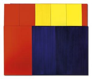 Imi Knoebel Ich Nicht XI, 2006 Acryl auf Aluminium und Acryl auf Papier, 317,5 x 373 x 8,4 cm Schätzwert € 200.000 – 250.000