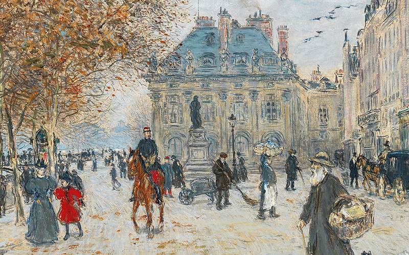 Jean François Raffaelli (1850–1924) Am Quai Malaquais, Paris Öl auf Leinwand, 71 x 81 cm Schätzwert € 50.000 – 80.000