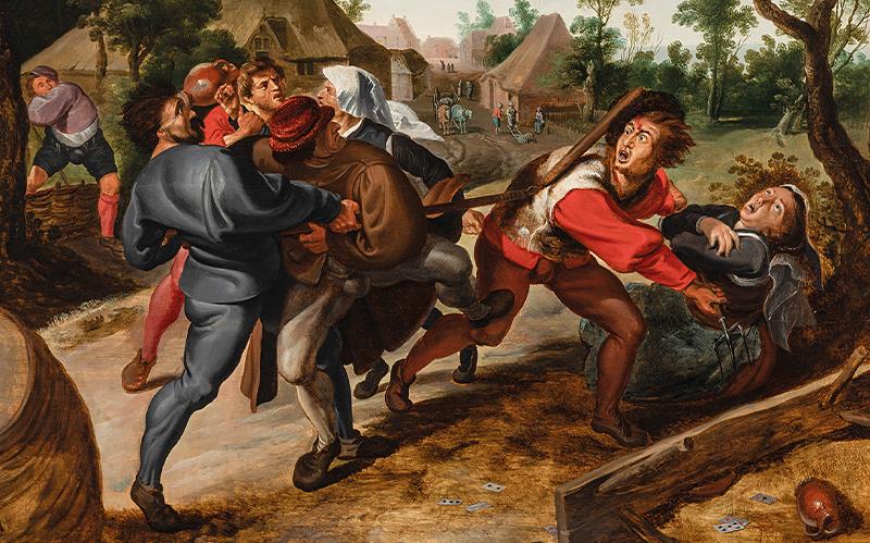 Peter Paul Rubens Werkstatt und Peter Paul Rubens Streitende Bauern beim Kartenspiel Öl auf Holz, 73,2 x 104,6 cm Schätzwert € 200.000 – 300.000 Auktion Alte Meister, 8. Juni 2021