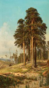 Andrej Nikolajevich Schilder (1861–1919), Ein Sommertag in der Umgebung von St. Petersburg, Öl auf Leinwand, 192 x 110 cm, Schätzwert € 30.000 – 40.000