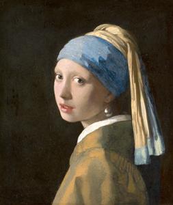 Jan Vermeer, Das Mädchen mit dem Perlohrring, um 1665 Mauritiushuis, Den Haag
