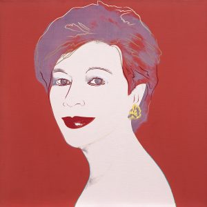 Andy Warhol, Portrait of a Lady, 1983, acrylic and silkscreen on canvas, 101.6 x 101.6 cm, estimate € 350,000 – 450,000