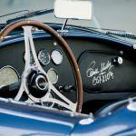 Lenkrad und Armaturenbrett der 1963 Shelby Cobra 289 Mk. I
