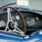 Steering wheel and dashboard of the 1963 Shelby Cobra 289 Mk. I