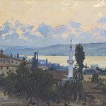 Fausto Zonaro, Sunset at Macka by the Bosporus - 19th Century Paintings 27th April 2017, € 35,000 - 45,000
