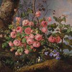 Franz Xaver Gruber, Rosenstück mit Schmetterling, Libelle und Vogel - Gemälde 19. Jahrhundert 27. April 2017, € 30.000 - 40.000