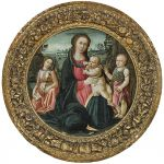 Jacopo dal Sellaio, Madonna and Child with Saint John and Angel - Old Master Paintings 25th April 2017, € 250,000 - 300,000