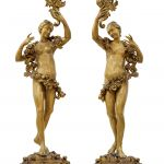 Two Baroque dancing girls with floral garlands, circle of Tommaso Righi - Works of Art 26th April 2017, € 25,000 - 30,000